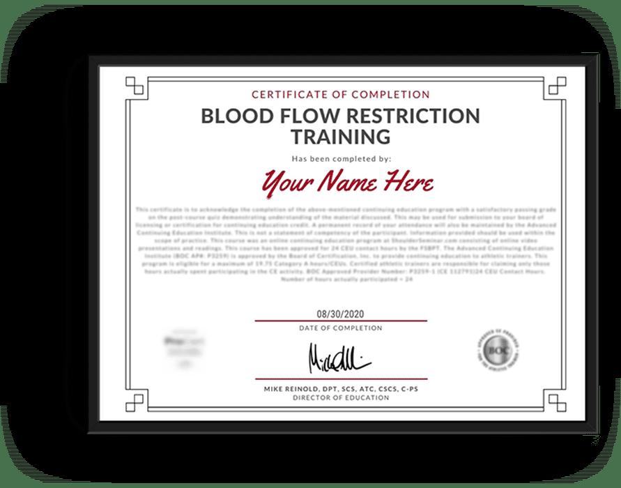 BFR CEU Certificate