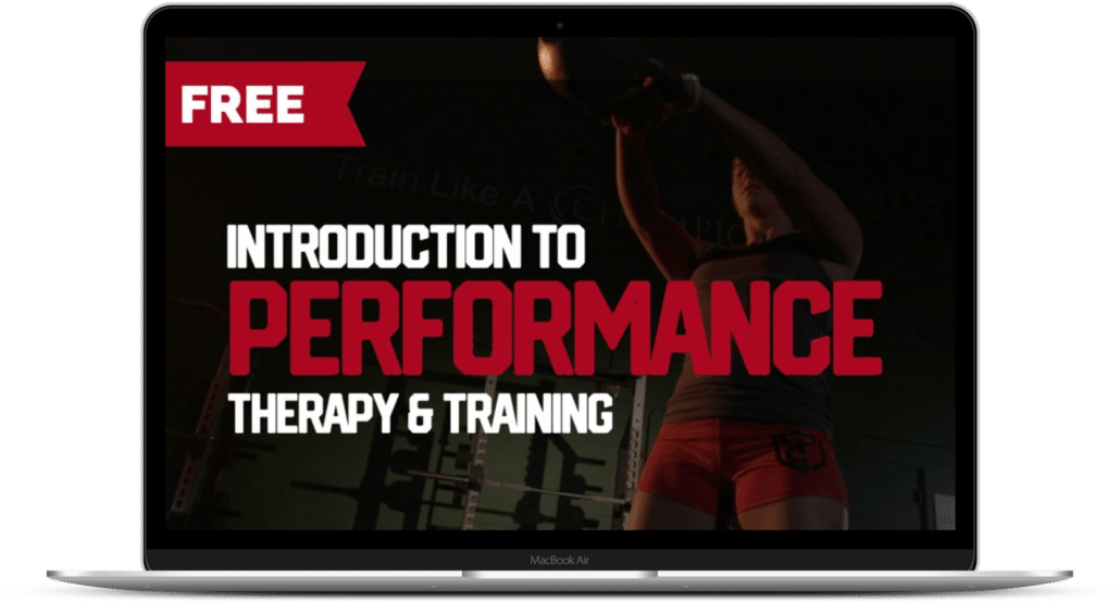 Introduction to performance therapy and training - laptop mockup
