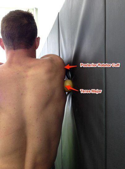 Self-myofascial release teres major